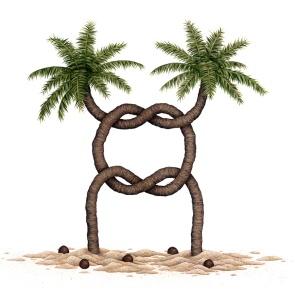 """Pochette du 1er LP - """"Palm Trees"""" by Gideon Chase"""