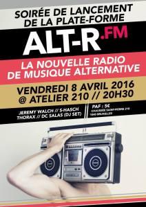 Soirée de lancement pour ALT-R.FM à l'Atelier 210