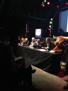 Conférence de presse des Aralunaires à l'Entrepôt - mars 2016 - source : facebook Aralunaires
