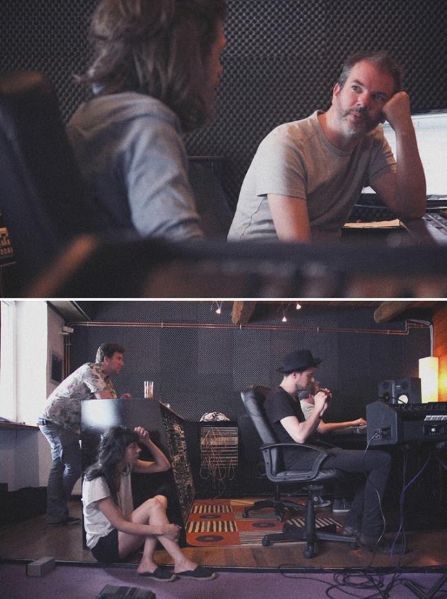 Dan San en studio avec Yann Arnaud - crédit photo : Gilles Dewalque