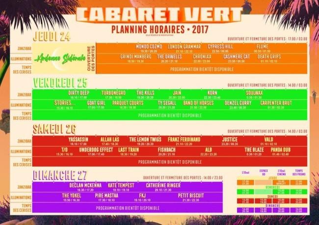 cabaret vert programme